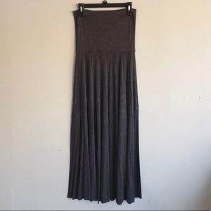 Anthro Lapis Maxi Skirt Dark Grey